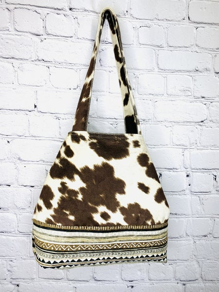 How Now Brown Cow NEW Button Tote