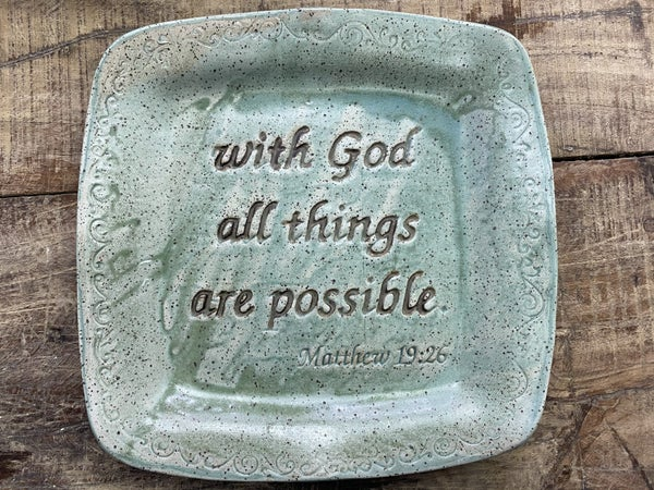 With God Pottery Plate 03410