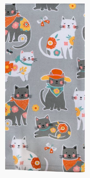 Cat Patch Dual Purpose Towel 03805