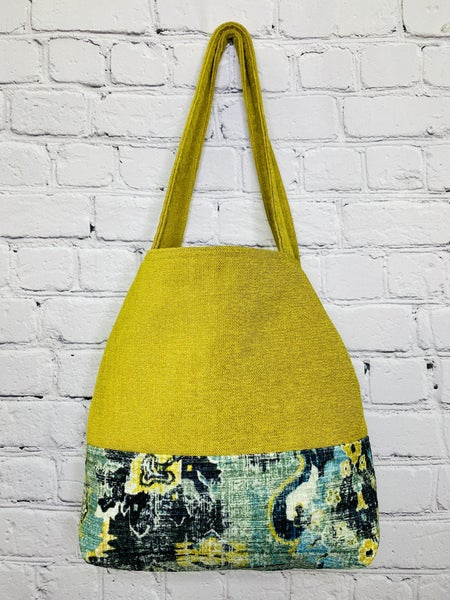 Blooming Chartreuse NEW Button Tote