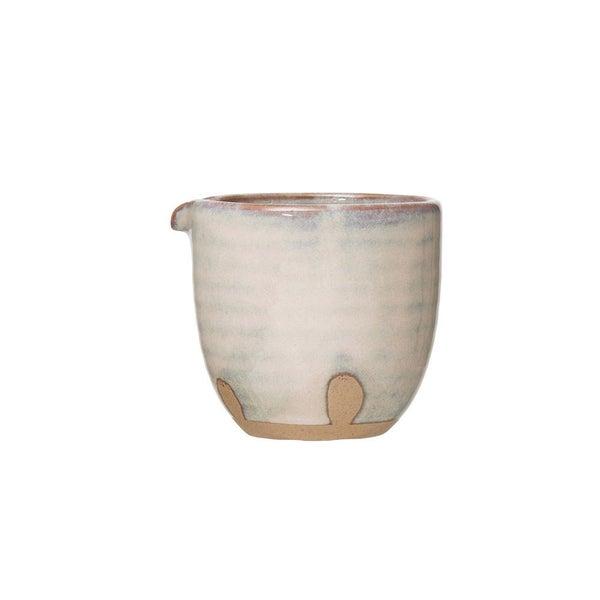 "3-1/2"" Round x 3-1/4""H 8 oz. Porcelain Creamer 02245"