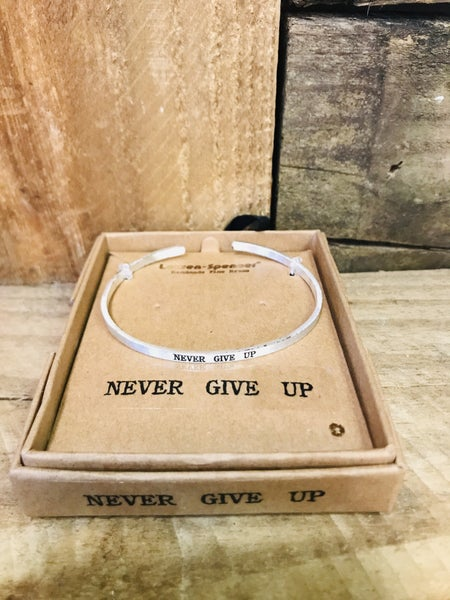 Silver Inspirational Bracelet 01005