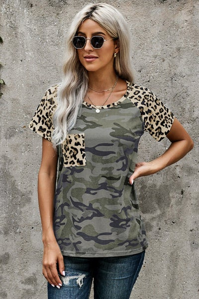 Leopard Pocket Camo T-shirt 03817