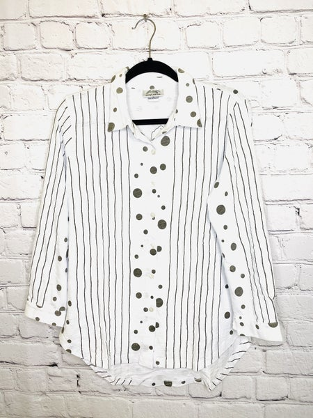 Mixed Stripe & Dot  Shirt 03586