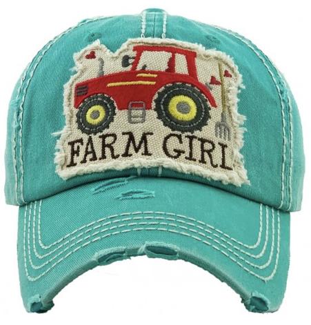 Farm Girl Baseball Cap 03548
