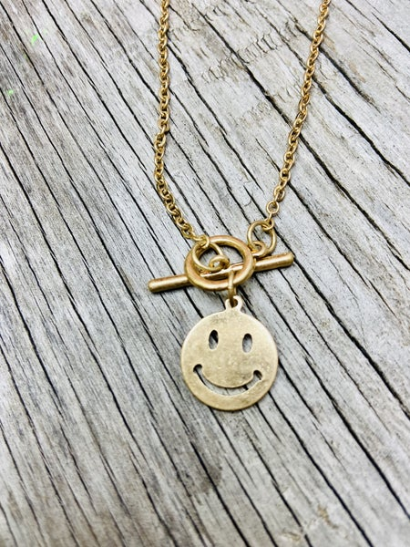 Smiley Face Necklace 03772