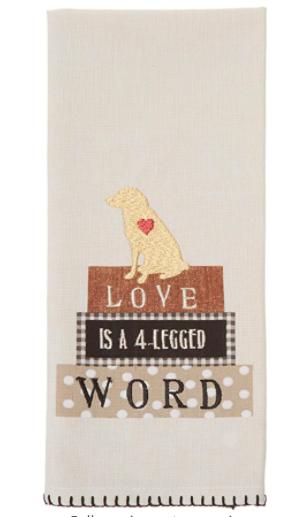 Four Legged Word Tea Towel 03301