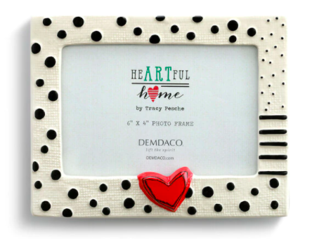 Heart and Dots Frame 03232