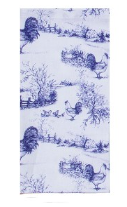 Blue Rooster Toile Towel 03315