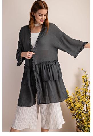 Double Ruffle Kimono 03657