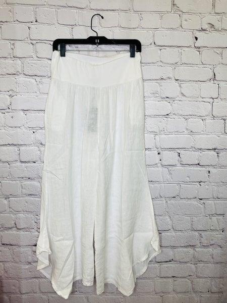 White Linen Pants 03727