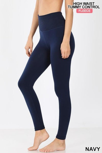 Fleece Tummy Control Leggings 02795