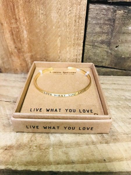 Gold Inspirational Bracelet 01005