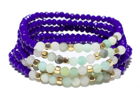 Multi Layered Bead Stretch Bracelet 03774