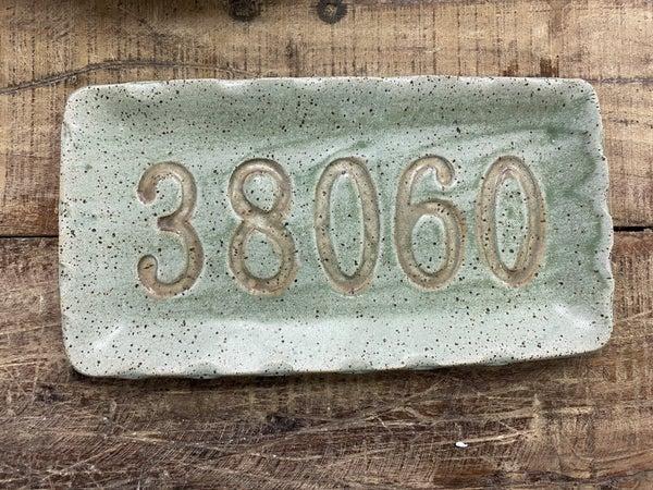 Zip Code Pottery Plate 03411