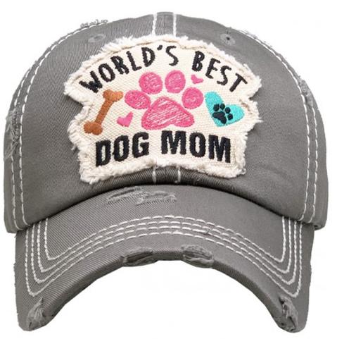 Best Dog Mom Baseball Cap 03546