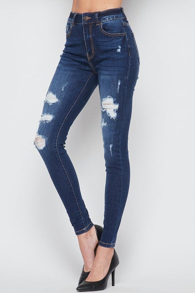 Distressed Skinny Jean 02065