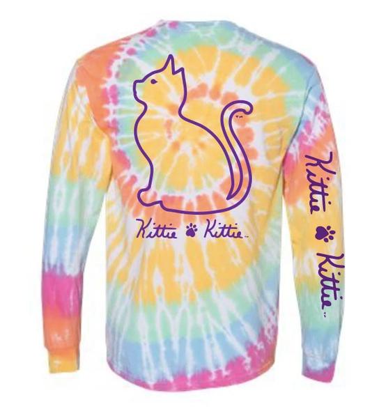 Aerial Tie Dye L/S Kittie Kittie T Shirt 03706