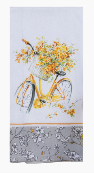 Yellow Bike Tea Towel 03803