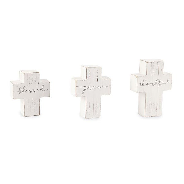 SMALL WOODEN CROSS SITTERS 01073