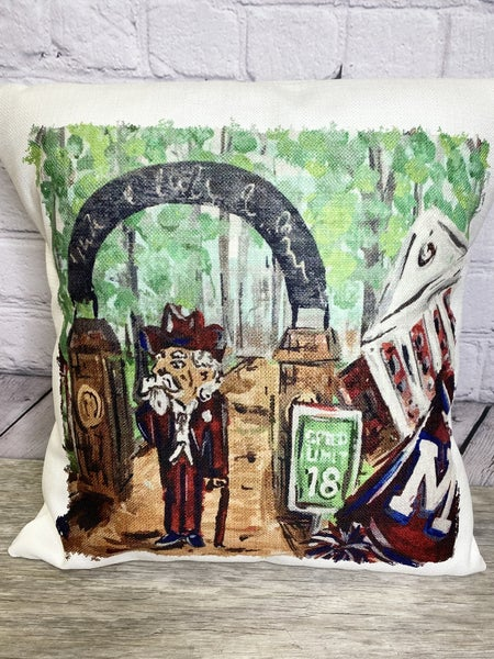Ole Miss Pillow 03467