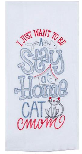 Purr Cat Mom Flour Sack 03291