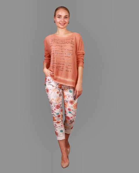 Floral Pants 03815