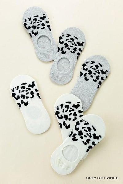Animal Print Invisible Socks 02408