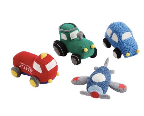Transportation Knit Rattle 03592