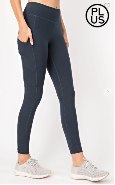 03158- Plus Size Butter Leggings w/Wide Waistband