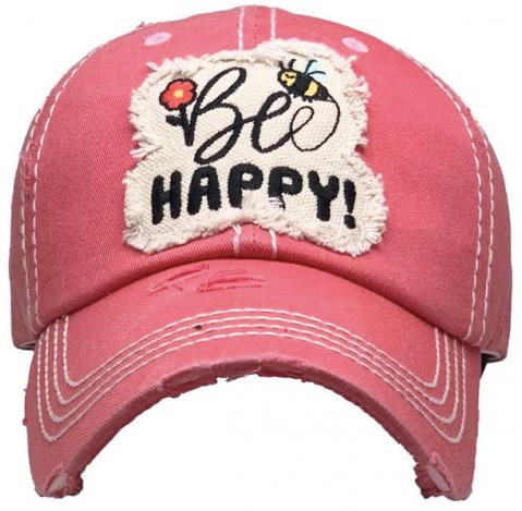 Bee Happy Baseball Cap 03545