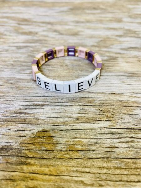 Believe Tile Bracelet 01577