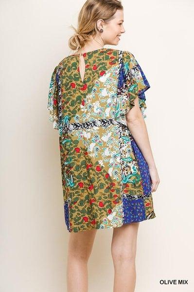 Floral Mixed Print Dress 02853