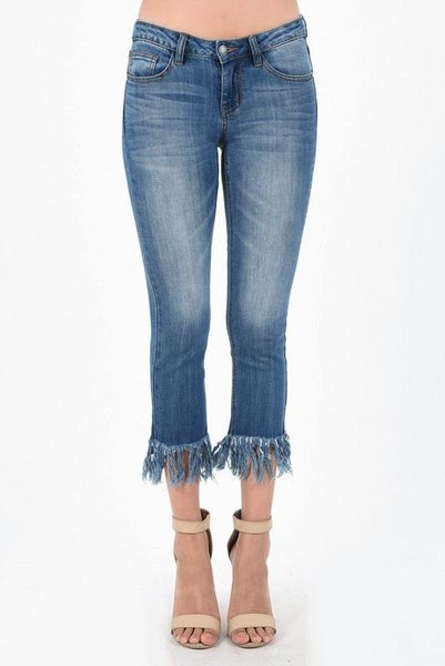 Long Ankle Fray Skinny 00229
