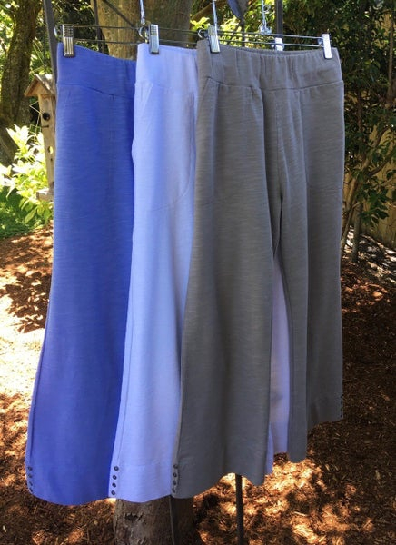 Taupe Side Button Capris 03132