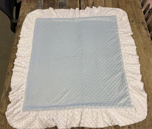 Minky Ruffle Baby Blanket 03826
