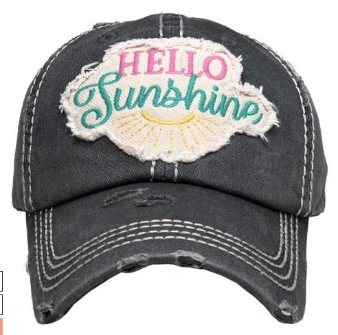 Hello Sunshine Baseball Cap 03547