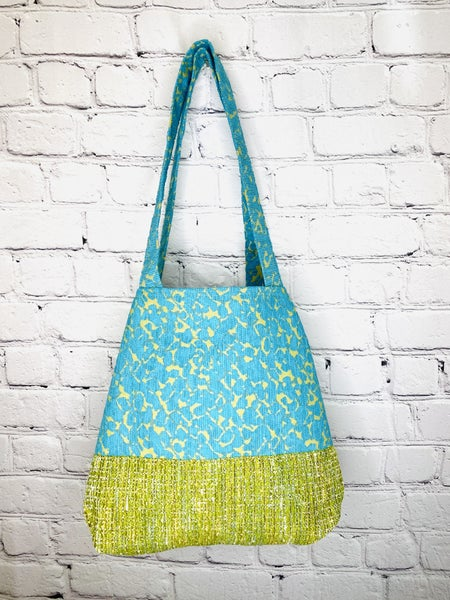 Blue Sky, Green Meadow NEW Button Tote