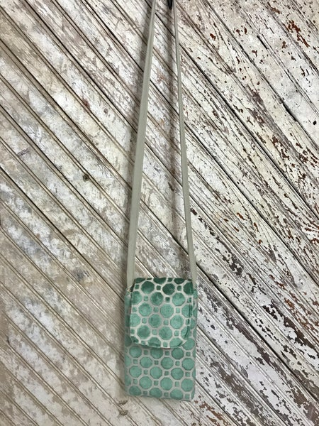 Turquoise Bubbles Side Pocket w/ Clear Phone Pocket