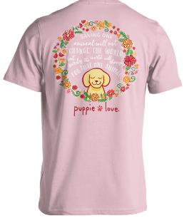 Puppie Love- Floral Wreath- 01662