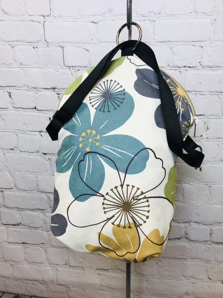 Fall FlowersMini Messenger/Backpack