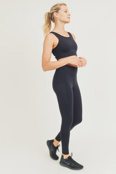 Lycra-Blend Essential Highwaist Leggings 02955