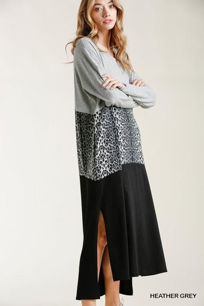 Animal Print Maxi Dress 02784