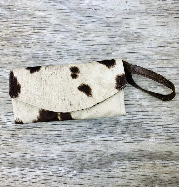 Brown Cow Clutch Wallet