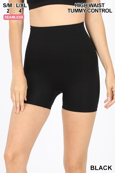 HIGH WAIST TUMMY CONTROL SEAMLESS SHORT LEGGINGS 01839