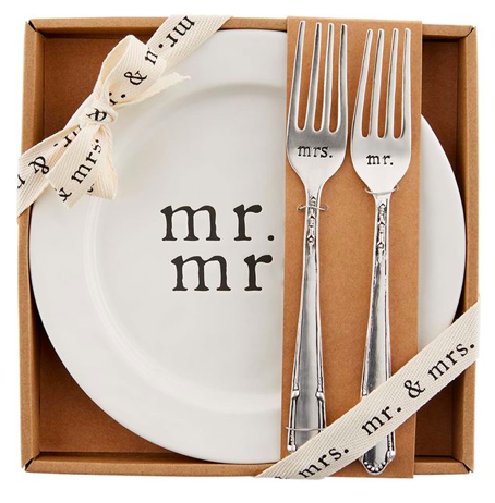 Mr. & Mrs. Cake Plate Set 03493