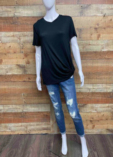 Distressed Dark Wash Denim 03219
