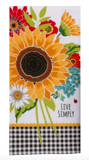 Live Simply Tea Towel