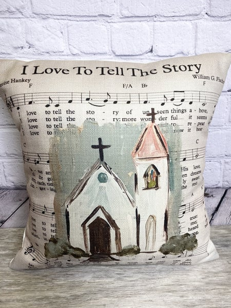 I Love to Tell the Story Pillow 03471