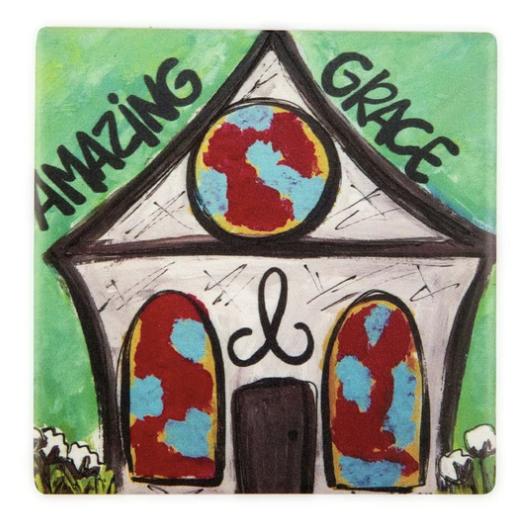 Amazing Grace (Colorful) Coaster 03600